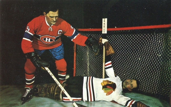 Just like this waxy reproduction, Richard scored his 500th NHL goal on Glenn Hall on October 19, 1957.