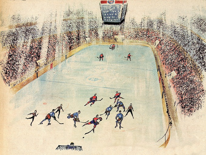Leafs and Habs at the Montreal Forum as seen by Normand Hudon in 1968.