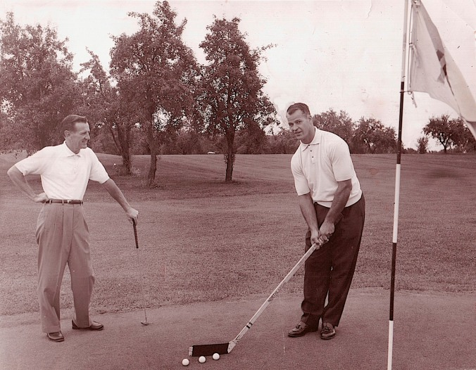 Nine, Fore: Gordie Howe, who turns 85 tomorrow, takes a practice round in preparation for the 1961 Michigan Open.