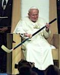 His Hockeyness: Pope John Paul II visits St. Louis in 1999.