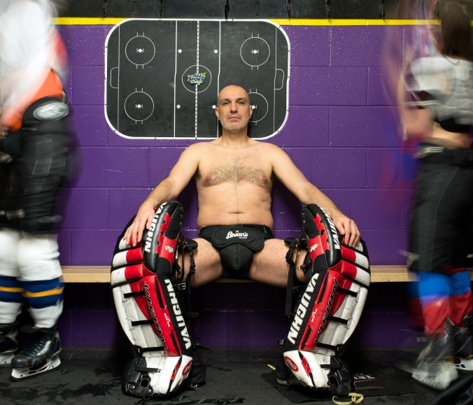 On A Cold Road: Writer and rocker Dave Bidini strips down for a fantastic cause, the just-released Bare It For Books 2014 Calendar. Bidini — he's April — has himself just published Keon And Me: My Search For The Lost Soul of the Leafs (Viking). Other writers joining him to pass the time in near-nudity include Yann Martel, Miranda Hill, and Steven Heighton. Proceeds from the calendar go to PEN Canada. For more information, visit www.bareitforbooks.ca. (Photo: Shelagh Howard for Bare It For Books, www.shelaghhoward.com)