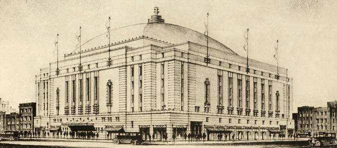 The House That Smythe Built: Heritage Toronto and Ryerson University unveiled a plaque on Thursday, November 14, to commemorate the Leafs' first home, now reborn as Ryerson's Mattamy Athletic Centre and ... a Loblaws. (Drawing by Ross and Macdonald, architects. The Journal, Royal Architectural Institute of Canada, viii, October 1931)