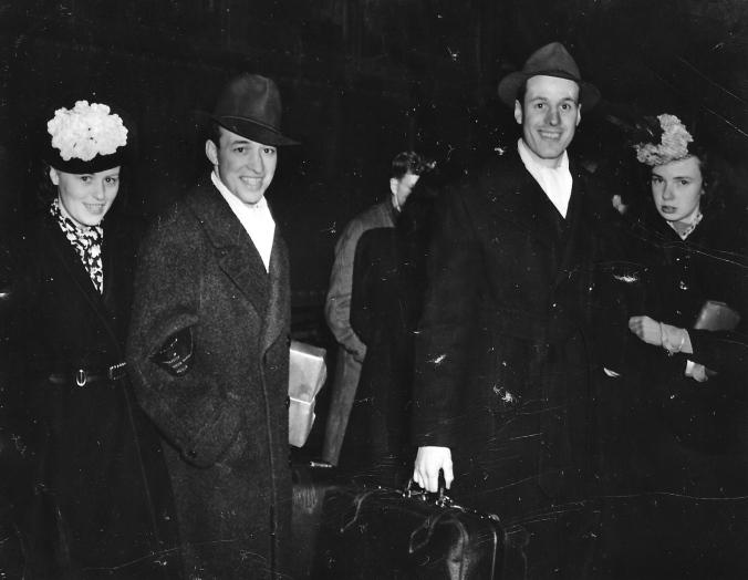 Mr. and Mrs. Edgar Laprade and Mr. and Mrs. Bert Laprade. Date of Original: 1938(Thunder Bay Public Library)