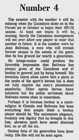 (Montreal Gazette, June 11, 1971)