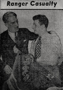 Ranger manager Lester Patrick with Heller ahead of his shoulder surgery.