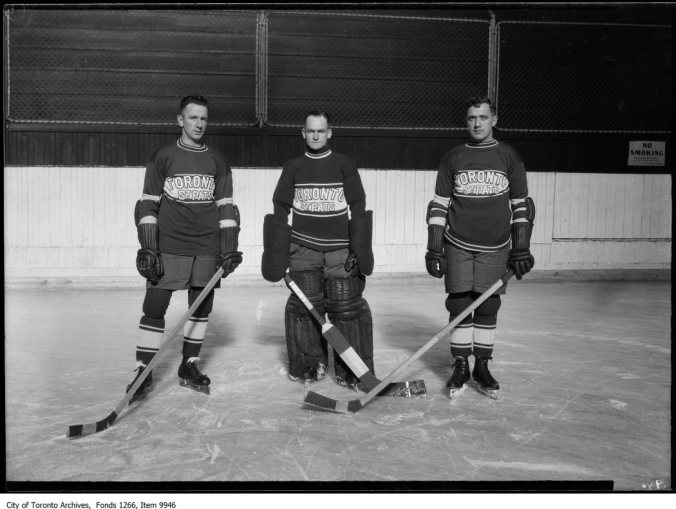 St. Pats Hockey Team, group of three. - December 3, 1926