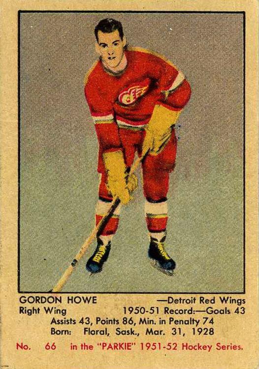 1951-52 Parkies #66 Gordie Howe