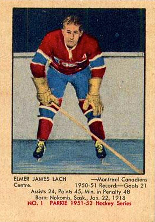 1951-52 Parkies #1 Elmer Lach