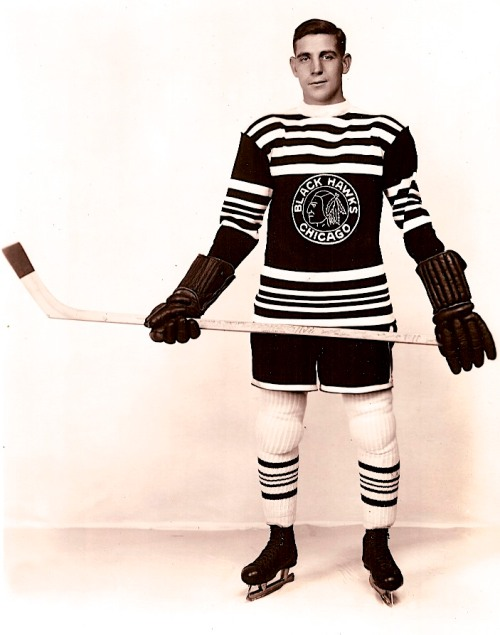 "Cy Op: Marvin Wentworth, better known as Cy, played on Chicago's defence starting in 1927, and he was named team captain in 1931. Traded later to Montreal's Maroons, he won a Stanley Cup in 1935. Andrew Podnieks makes the case that he ought to be in the Hall of Fame for his defensive defencemanship. His adjectives include steady-going, clean, and not-big. ""He used timing and the poke check to break up attacks,"" Podnieks writes, ""while his huge partner on the blue line, Taffy Abel, had no problem using his whole, and generous, body to prevent goals."""