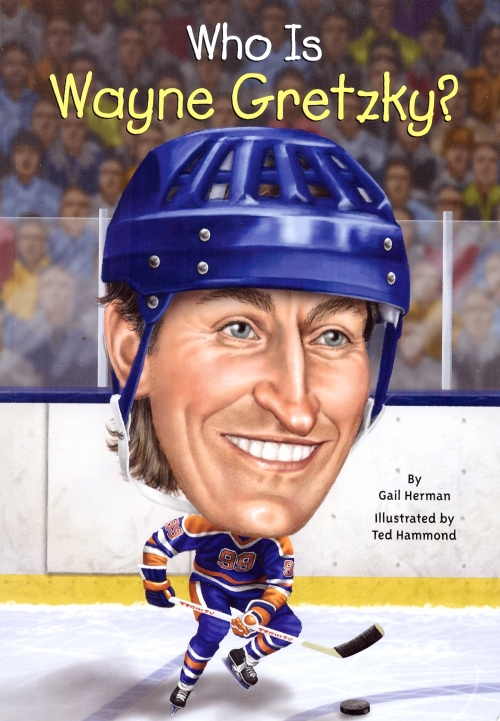 Who's Asking? The artist previously as #99 is the only hockey player to have made it into a new series of illustrated biographies for young readers, if not the only Canadian (as long as you're willing to count Alexander Graham Bell). Others in the line-up include Isaac Newton, Christopher Columbus, both Barack and Michelle Obama,  J.K. Rowling, Bob Dylan, and Jesus. (Illustration: Nancy Harrison)