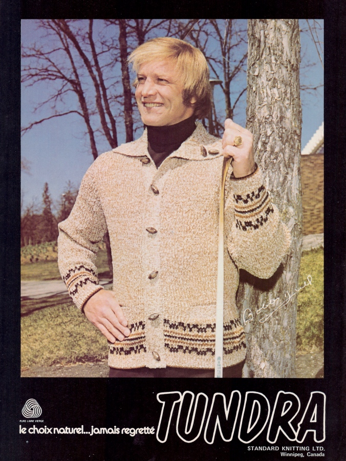 Sweater Weather: Bobby Hull in the wild, circa 1977.