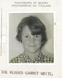 1970s me, harshly reviewed by the passport office