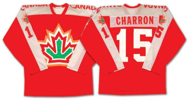 Old Foliage: Guy Charron's Canada sweater worn at the 1977 World Championships.