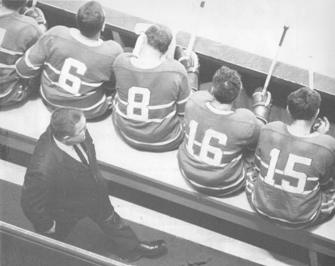 4 Beliveau, 6 Ralph Backstrom, 8 Dick Duff, 16 Henri Richard, 15 Bobby Rousseau