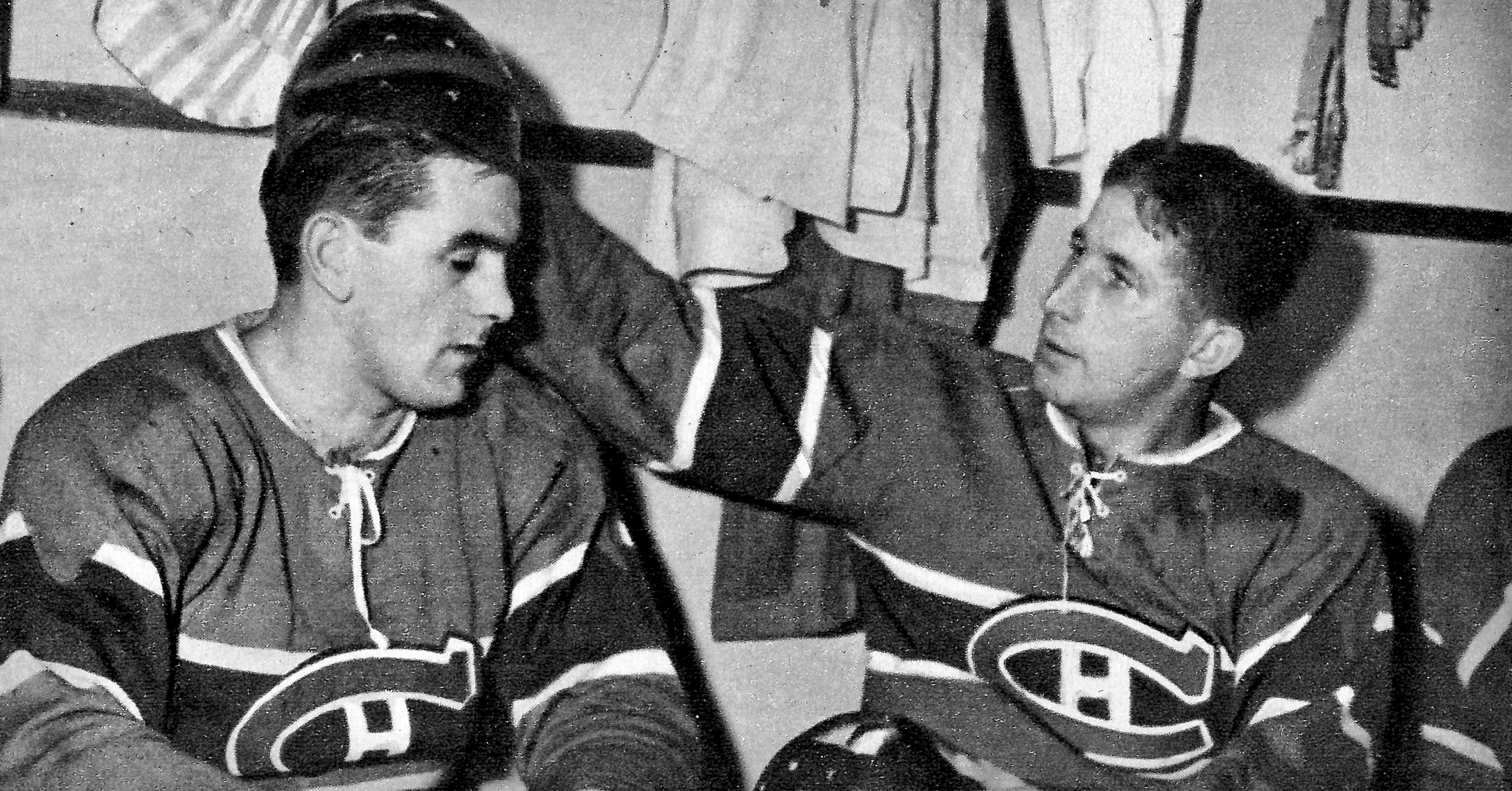 7e0873776 helmets for hockey players, 1947: richard and lach looked as if they were  sporting lacquered hair-dos